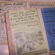 Coleccionismo de Revistas y Periódicos: 2 TOMOS CON FOLLETOS DE TEATRO, RECORTES DE PRENSA Y OTROS DOCUMENTOS DE TEATRO. AÑOS 1900-1910. Lote 47184606