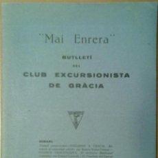 Coleccionismo de Revistas y Periódicos: BUTLLETÍ DEL CLUB EXCURSIONISTA DE GRACIA Nº 31. 1927. MAI ENRERA. PUBLICIDAD DE EPOCA. Lote 47188354