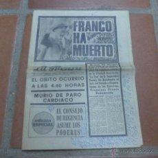 Coleccionismo de Revistas y Periódicos: ANTIGUO DIARIO LA PRENSA, 20 NOVIEMBRE 1975, MUERTE DE FRANCO.. Lote 47198186