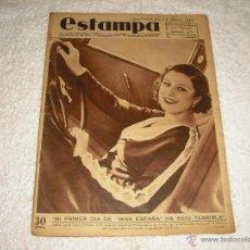 Coleccionismo de Revistas y Periódicos: ESTAMPA Nº 334 . 1934. MISS ESPAÑA MARIA EUGENIA ENRIQUEZ. Lote 47208366
