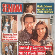 Coleccionismo de Revistas y Periódicos: SEMANA - 1995 - CAROLINA, JESULÍN, ANA OBREGÓN, REMEDIOS CERVANTES, MARTA CHAVARRI, ISABEL PANTOJA. Lote 47211864