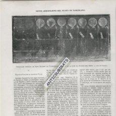 Coleccionismo de Revistas y Periódicos: REVISTA ANY 1907 FRONTAL DELS BISBES ROMANIC SANT SADURNI DE TAVERNOLES BADALONA JOAN AMIGO BARRIGA. Lote 47308534