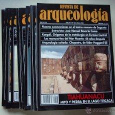 Coleccionismo de Revistas y Periódicos: LOTE DE 12 NÚMEROS DE REVISTA DE ARQUEOLOGÍA. AÑO 1994 COMPLETO.. Lote 47315384