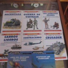 Coleccionismo de Revistas y Periódicos: M69 LOTE DE 8 LIBROS TEMATICA MILITAR 6 DE CARROS DE COMBATE Y 2 DE AVIONES EN COMBATE. Lote 47342868