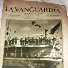 Coleccionismo de Revistas y Periódicos: LA VANGUARDIA 1934 . 4 PÁG PRESOS POLÍTICOS CONSEJEROS DE LA GENERALIDAD EN BARCO CIUDAD DE CADIZ. Lote 47395560