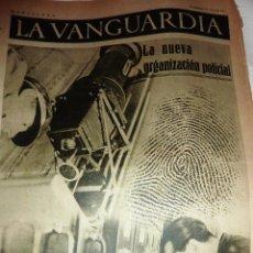 Coleccionismo de Revistas y Periódicos: LA VANGUARDIA 1937 4 PÁG GUERRA CIVIL . NUEVA ORGANIZACION POLICIAL LABORATORIO CATALUÑA. Lote 47395751