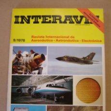 Coleccionismo de Revistas y Periódicos: INTERAVIA Nº 9 / 1978 - REVISTA INTERNACIONAL DE AERONÁUTICA - ASTRONÁUTICA - ELECTRÓNICA. Lote 47412324