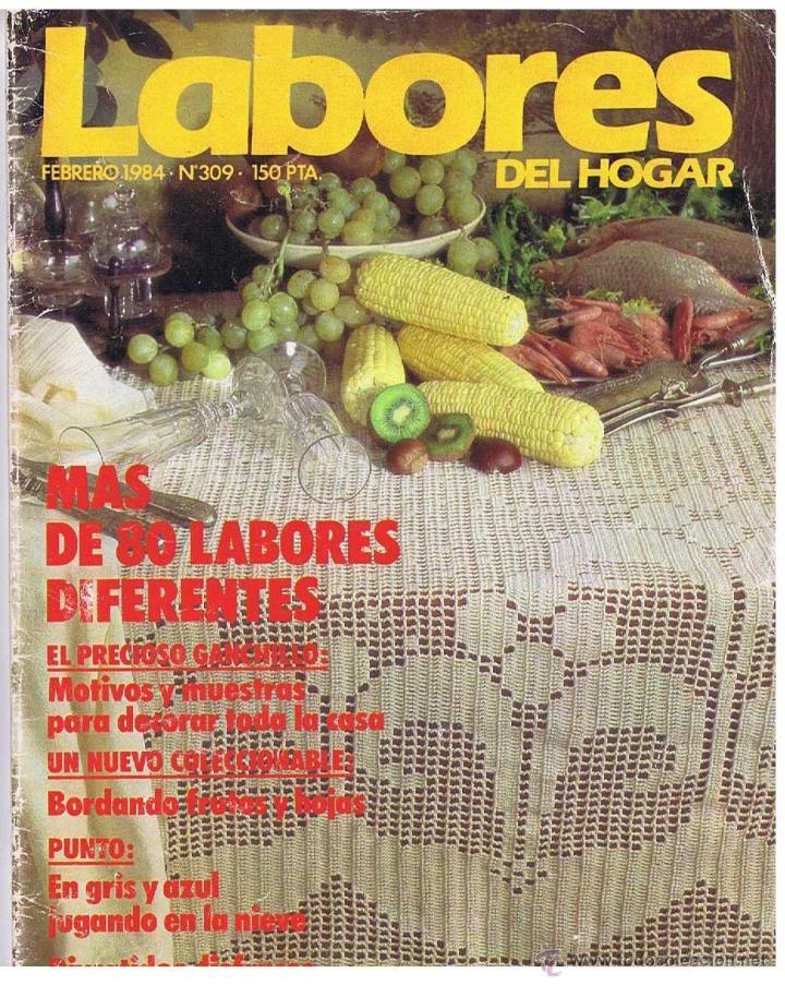 REVISTA LABORES DEL HOGAR Nº 320 - ENERO 1985 - CON PATRONES E INSTRUCCIONES (Coleccionismo - Revistas y Periódicos Modernos (a partir de 1.940) - Otros)