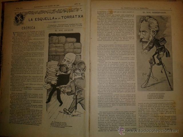 LA ESQUELLA DE LA TORRATXA 1903 - AÑO COMPLETO EN 1 TOMO (Coleccionismo - Revistas y Periódicos Antiguos (hasta 1.939))