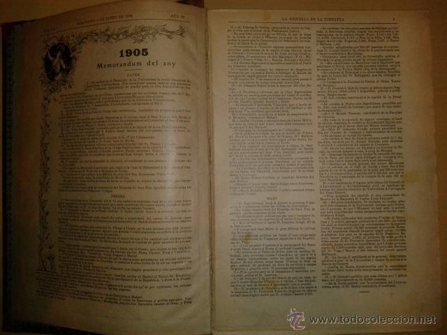 LA ESQUELLA DE LA TORRATXA 1906 - AÑO COMPLETO EN 1 TOMO - (ILUSTRADO, EN BUEN ESTADO) (Coleccionismo - Revistas y Periódicos Antiguos (hasta 1.939))