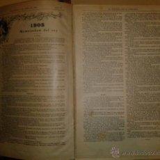 Coleccionismo de Revistas y Periódicos: LA ESQUELLA DE LA TORRATXA 1906 - AÑO COMPLETO EN 1 TOMO - (ILUSTRADO, EN BUEN ESTADO). Lote 47478710