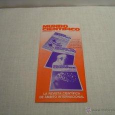 Coleccionismo de Revistas y Periódicos: FOLLETO SUSCRIPCION REVISTA MUNDO CIENTIFICO. Lote 47527972