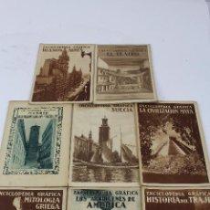 Coleccionismo de Revistas y Periódicos: L-1141. ENCICLOPÈDIA GRAFICA. EDITORIAL CERVANTES. AÑO 1930. LOTE DE OCHO REVISTAS.. Lote 47533896