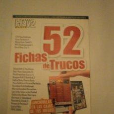 Coleccionismo de Revistas y Periódicos: FICHA DE TRUCOS 52-- PLAY MANIA. Lote 47549501