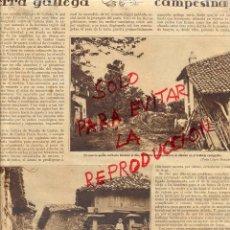 Coleccionismo de Revistas y Periódicos: GALICIA 1928 AIRES DE LA TIERRA GALLEGA HOJA REVISTA. Lote 47564868
