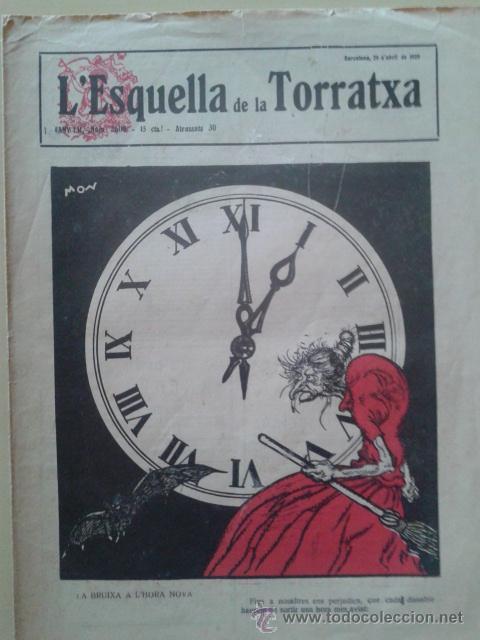 REVISTA LA ESQUELLA DE LA TORRATXA. ANY 52 NUM. 2600 BARCELONA 26 ABRIL 1929 (Coleccionismo - Revistas y Periódicos Antiguos (hasta 1.939))