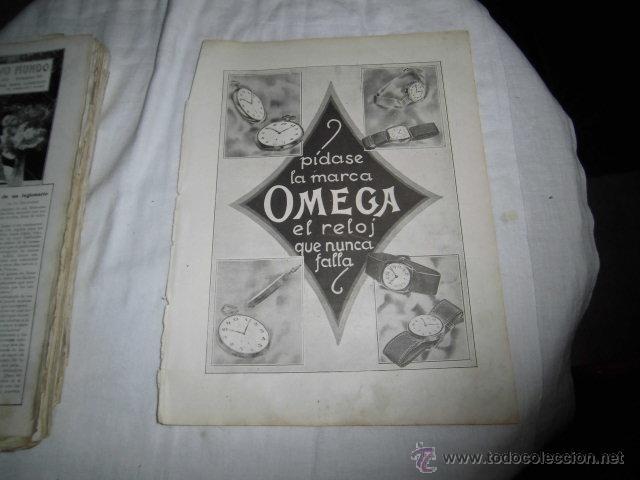 PUBLICIDAD RELOJES OMEGA/PLUMA Y LAPICERA EVERSHARP HOJA REVISTA NUEVO MUNDO 1921 (Coleccionismo - Revistas y Periódicos Modernos (a partir de 1.940) - Otros)