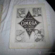 Coleccionismo de Revistas y Periódicos: PUBLICIDAD RELOJES OMEGA/PLUMA Y LAPICERA EVERSHARP HOJA REVISTA NUEVO MUNDO 1921. Lote 47591709