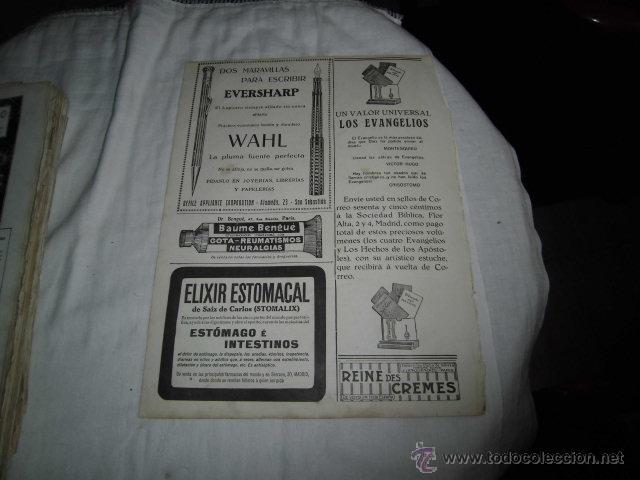 Coleccionismo de Revistas y Periódicos: PUBLICIDAD RELOJES OMEGA/PLUMA Y LAPICERA EVERSHARP HOJA REVISTA NUEVO MUNDO 1921 - Foto 2 - 47591709