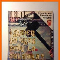 Coleccionismo de Revistas y Periódicos: DOSSIER MUNDO .- Nº 44 - ABRIL 1975 .- ¿ QUIEN DA MAS POR LA CULTURA ?. Lote 47608069