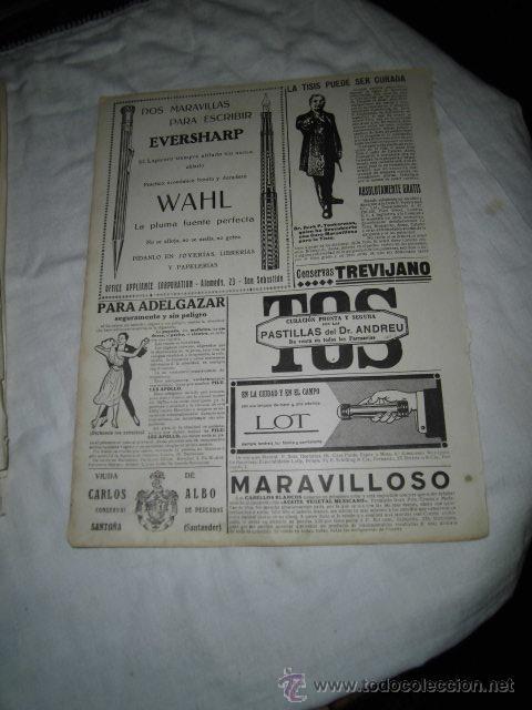 Coleccionismo de Revistas y Periódicos: SECRET D`OR FRANCY/EVERSHARP PLUMA Y LAPICERA/PUBLICIDAD VARIADA HOJA REVISTA NUEVO MUNDO 1922 - Foto 2 - 47624382