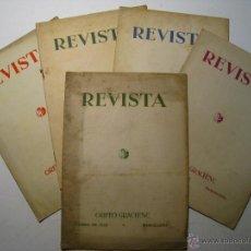 Coleccionismo de Revistas y Periódicos: ORFEO GRACIENC - BARCELONA - LOTE 5 REVISTAS 1932-1936. Lote 47710752