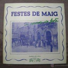 Coleccionismo de Revistas y Periódicos: BADALONA - FESTES DE MAIG I RECORDS DE FESTES - QUADERNS CULTURA POPULAR 3 - 1983. Lote 241660240