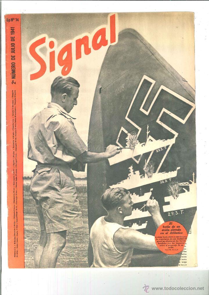 SIGNAL. 2º NÚMERO DE JULIO DE 1941 Nº 14 (Coleccionismo - Revistas y Periódicos Modernos (a partir de 1.940) - Otros)