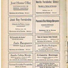 Coleccionismo de Revistas y Periódicos: QUINTANA DE LA SERENA, SAN VICENTE DE ALCANTARA, ZALAMEA DE LA SERENA, BADAJOZ. Lote 47851457