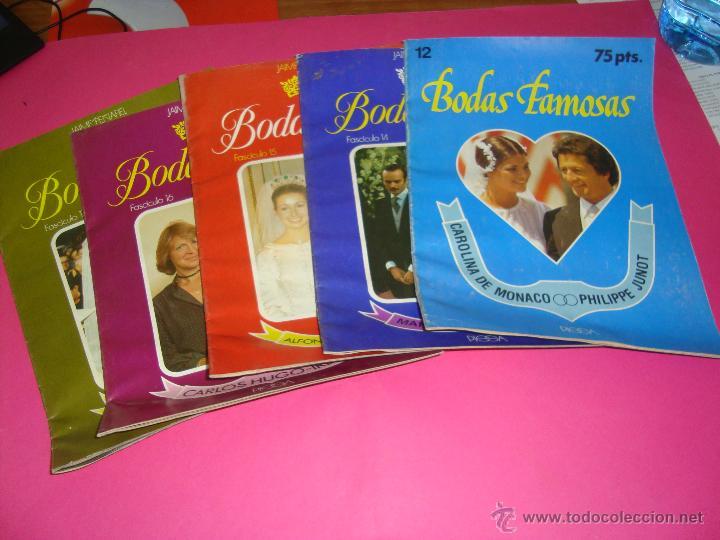 LOTE 5 REVISTAS BODAS REALES Y FAMOSAS (Coleccionismo - Revistas y Periódicos Antiguos (hasta 1.939))