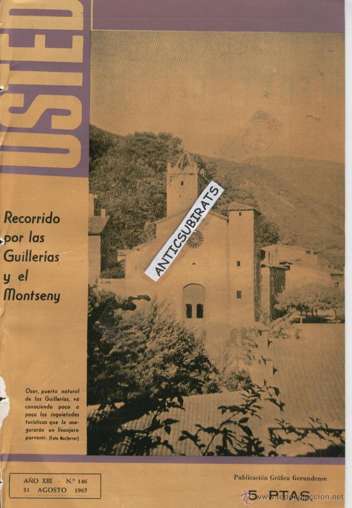 REVISTA ANY 1965 GUILLERIES MONTSENY OSOR CAFE CINE TIVOLI SANT HILARI SACALM HOTEL SOLTERRA REGAS (Coleccionismo - Revistas y Periódicos Modernos (a partir de 1.940) - Otros)