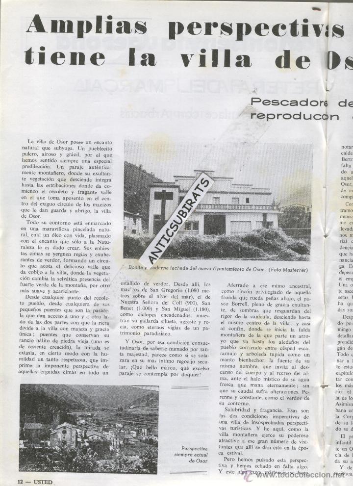 Coleccionismo de Revistas y Periódicos: REVISTA ANY 1965 GUILLERIES MONTSENY OSOR CAFE CINE TIVOLI SANT HILARI SACALM HOTEL SOLTERRA REGAS - Foto 5 - 47949322