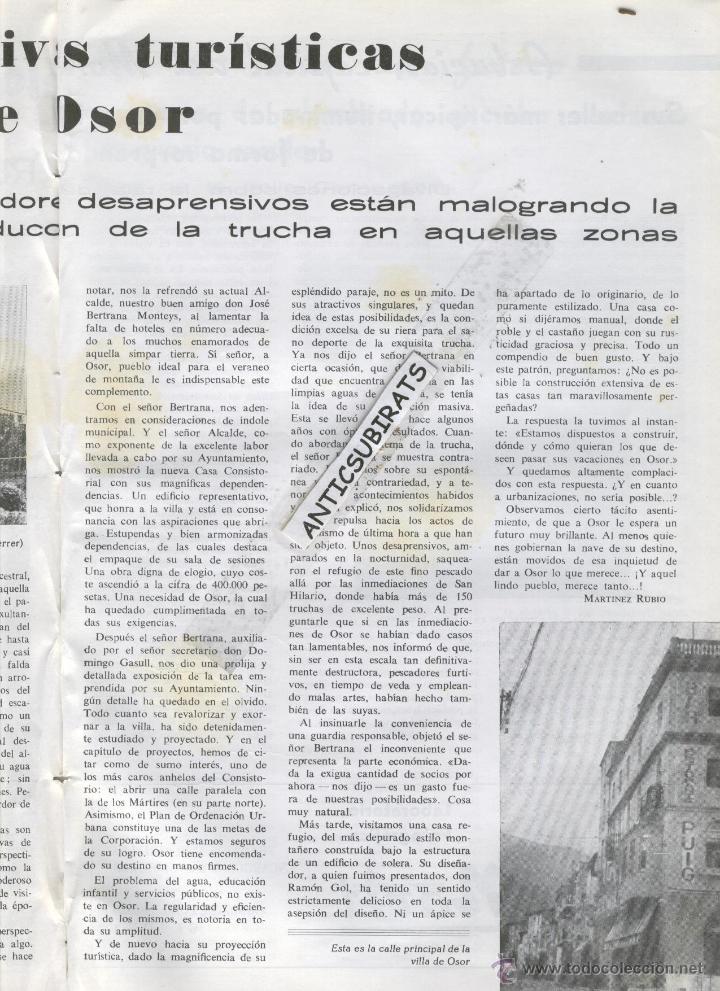 Coleccionismo de Revistas y Periódicos: REVISTA ANY 1965 GUILLERIES MONTSENY OSOR CAFE CINE TIVOLI SANT HILARI SACALM HOTEL SOLTERRA REGAS - Foto 6 - 47949322