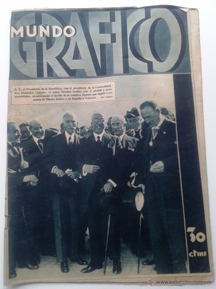MUNDO GRAFICO Nº 1148 -1 NOVIEMBRE 1933 - INUNDACION EN GUIPUZCOA - BARCELONA - BLASCO IBAÑEZ segunda mano