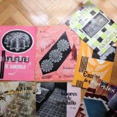 Coleccionismo de Revistas y Periódicos: LOTE ANTIGUAS REVISTAS PUNTO DE CRUZ, ENCAJE, GANCHILLO, LABORES.... Lote 47980147