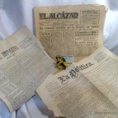 Coleccionismo de Revistas y Periódicos: EL ALCAZAR, EL IMPARCIAL, LA POLÍTICA. LOTE DE PERIÓDICOS ANTIGUOS.. Lote 47992459