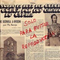 Coleccionismo de Revistas y Periódicos: DE REINOSA A OVIEDO 1935 PIO BAROJA HOJA REVISTA. Lote 48111108