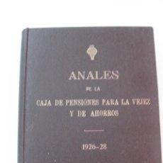 Coleccionismo de Revistas y Periódicos: ANALES CAJA DE PENSIONES PARA LA VEJEZ Y DE AHORROS. 1926-.1928. BARCELONA.DESDE EL Nº 1.. Lote 48274999
