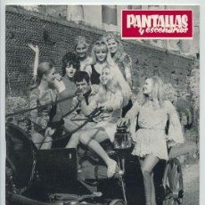 Coleccionismo de Revistas y Periódicos: PANTALLAS Y ESCENARIOS - 1970 - HITCHCOCK, MGM, CANNES, KAREL REISZ, SERRAT, FANNY CANO, OSCAR DAVIS. Lote 48442568