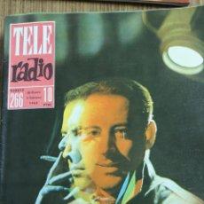 Coleccionismo de Revistas y Periódicos: REVISTA TELERADIO Nº 266 1963 PORTADA IGNACIO DE PAÚL ACTOR DE TELEVISION. Lote 48444615