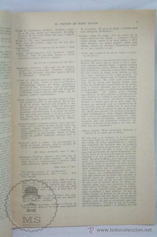 Coleccionismo de Revistas y Periódicos: Antigua Publicación Teatro Catalán, Años 30 - La Escena Catalana Nº 299. El Procés de Mary Dugan - Foto 2 - 109771119