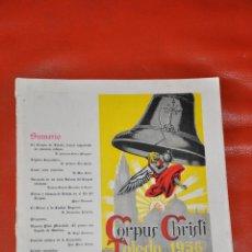 Coleccionismo de Revistas y Periódicos: PROGRAMA OFICIAL CORPUS CHRISTI TOLEDO 1956. Lote 48449119