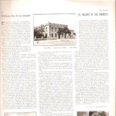 Coleccionismo de Revistas y Periódicos: 1929 DIONISIO PEREZ GUIA BUEN COMER GASTRONOMIA SUBMARINISMO WILLIAMSON PALACIO LAS ISABELES MADRID. Lote 48462536