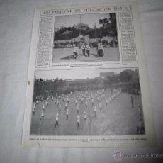 Coleccionismo de Revistas y Periódicos: UN FESTIVAL DE EDUCACION FISICA DE LAS SALESIANAS DE LA RONDA DE ATO HOJA REVISTA MUNDO GRAFICO 1922. Lote 48468671