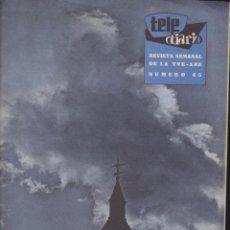 Coleccionismo de Revistas y Periódicos: TELE DIARIO Nº 65 MARZO 1959 ( TELE RADIO ). Lote 48517208