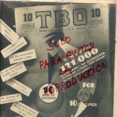 Coleccionismo de Revistas y Periódicos: TBO 1932 REVISTA INFANTIL SOLOHOJA REVISTA. Lote 48565068