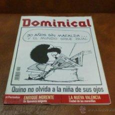 Coleccionismo de Revistas y Periódicos: REV DOMINICAL .- MAFALDA&KINO GRAN RPTJE.ENRIQUE MORENTE,VALENCIA, ,ANA GARCIA SIÑERIZ. Lote 48601246