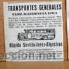 Coleccionismo de Revistas y Periódicos: BUS RÁPIDO SEVILLA-JEREZ-ALGECIRAS EN RECORTE ANUNCIO (R2428) REVISTA BLANCO Y NEGRO 20 MARZO 1932. Lote 48632141