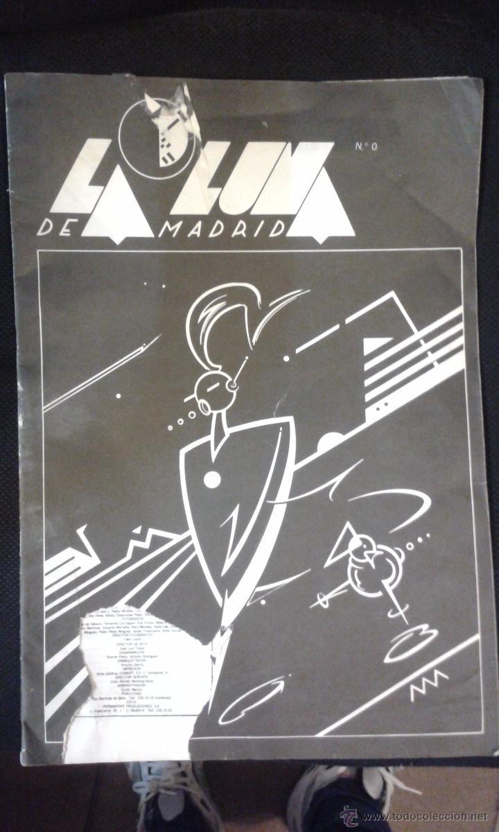 LA LUNA DE MADRID Nº 0 NÚMERO MUY RARO. REVISTA DE LA MOVIDA RAMONCIN, ARCO 83, EL GRAN WAYOMING ... (Coleccionismo - Revistas y Periódicos Modernos (a partir de 1.940) - Otros)