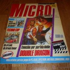Coleccionismo de Revistas y Periódicos: REVISTA MICROMANÍA N 11 SEGUNDA EPOCA 1985 ESPECIAL DOUBLE DRAGON M.B.E.. Lote 48661130
